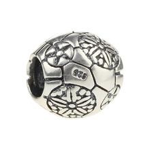 Fashion Jewelry Making Wholesale Flower Bead 925 Sterling Silver Charm for European Bracelet