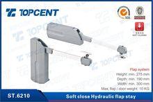 400-1600mm grey zinc alloy soft close hydraulic flap stay
