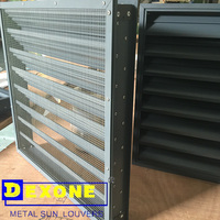 Metal storm proof weather resistance louver