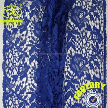 2015 Newest fashion blue color cord lace fabric 5 yard ( YJC30115)