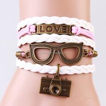 Hand weaving lock bracelet unisex general glasses bracelet love forever jewelry