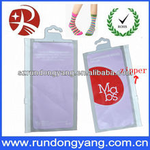 promotional zipper bag for stockings with hook