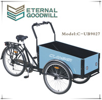 cargo bike/bicycle with steel frame and steel aluminum 9027
