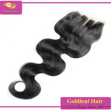 large stock 6a 100% density 3 part lace closure,4x4 swiss lace closure