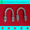 Hot dip galvanized standard U type bolt(round and square type)/link fitting/line hardware