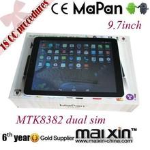 9.7 inch gsm tablet pc/ dual sim android mini pc/mapan quad core 3g mini pc