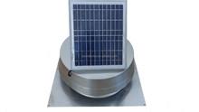 Solar attic fan with square base