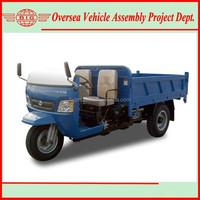 2 ton 1000cc Diesel Engine Cargo Three Wheel Tricycle