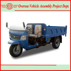 2 ton 1000cc Diesel Engine Cargo Three Wheel Tricycle