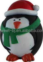 Wholesale Festival Christmas Penguin Squeaky Rubber Pet Toys/Dog Toys