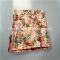atacado dupla camada japonês flores lenço de seda
