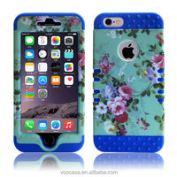 Yuqico Colorful and fishbone 3 layer silicone phone defender case for iPhone 4/4s/5/5s