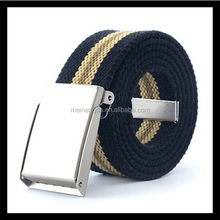 2015 cheap item for sell practical military canvas belt with metal buckle