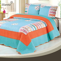 factory wholesale king size cotton applique bed sheet
