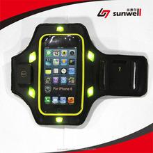 China Manufacturer Jogging Running Gym Sweatproof LED Flashing Armband for iphone 6