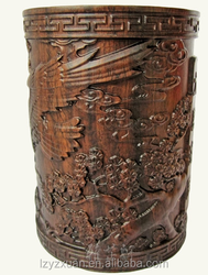 2015 Yazhixuan Quality Product Wood Carving Ebony Pen Holder for Decoration