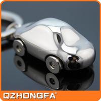 Hot sale cheap metal 3d customized car shaped keychain