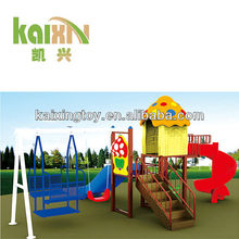 outdoor plastic swing set for children