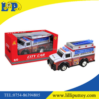 Multi-directional battery operated fire engine truck toy