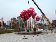Modern Large Famous Stainless steel Arts Abstract sculpture for Garden decoration