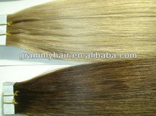 natural virgin indian double drawn hair extensions tape weft 2.5g each piece looking for distributor