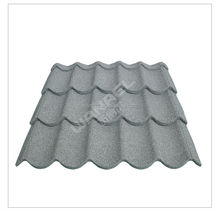 Villa decorative roof tile/anti-uv colorful stone chips coated metal roof tiles/color roof philippines