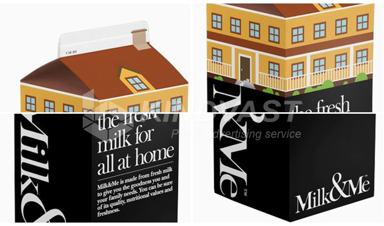 Цвет Печатной бумаги, коробки для упаковки молока с высоким качеством