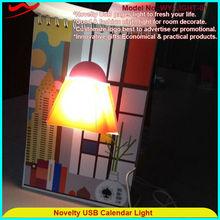 pagina del libro luce innovativo calendario alla moda novità lampada led luce di lavoro