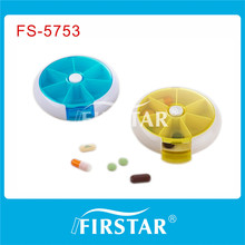 round shape pill box with FDA certificate