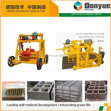 construction machinery price moving concrete block making machine business opportunity usa