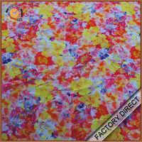 Professional digital floral print fabric in 100 silk material as custom design