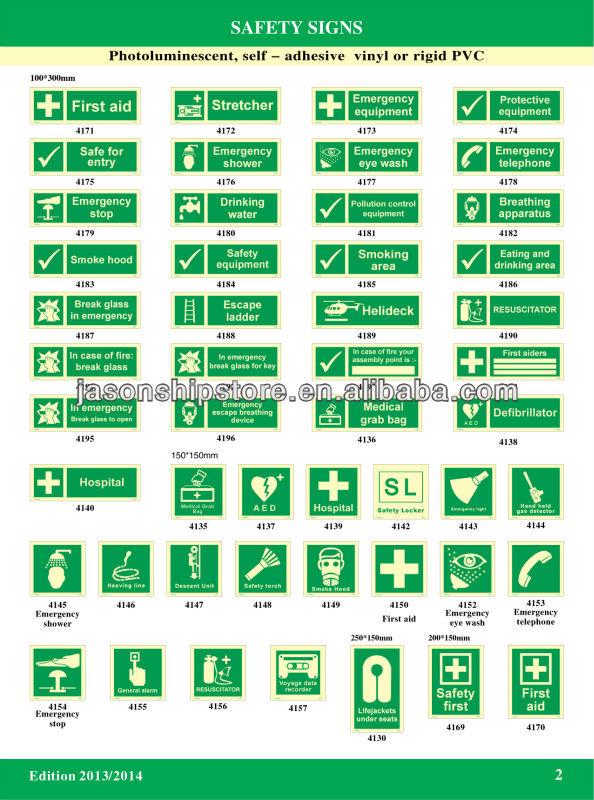 Señal de seguridad IMO símbolos