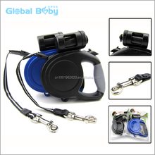 8M Length Retractable Dog Pet Leash with Waste Bag Dispenser