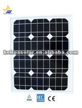 high efficiency mono solar panel 30W with TUV CE SGS Conversion rate 18%