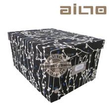 2013 fabric black flower design folding dvd box