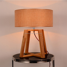 2015 Popular standing wooden reading light fabric lampshade Energy-saving table lamp for hotel hot selling