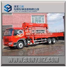 China new type hot sale FAW Cargo crane truck 6*4 truck with crane