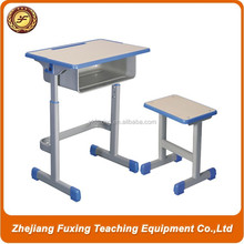 2015 popular wooden student desk and chair