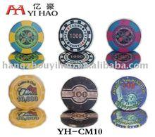 Ceramic Casino Poker Chips Game