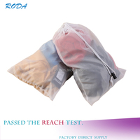 Household Essential Folding Polyester Mesh Drawstring Laundry Bag