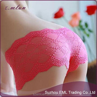 Sexy female mid-waist lace panties woman underwear