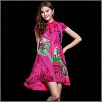 ZS023 Silk jersey high fashion sexy drape dress