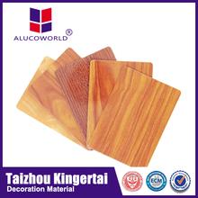 Alucoworld wood plastic composite board aluminum plastic composite panel front aluminium composite sheet