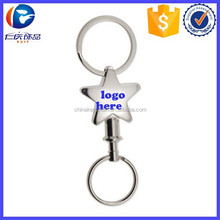 Hot Sale Valet Star Shaped Key fob With Detachable Splt Ring