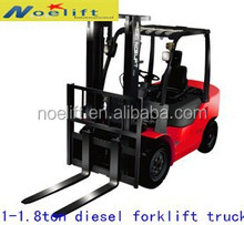 china mainland 1-1.8Ton diesel forklift truck with factory price for develop overseas markets