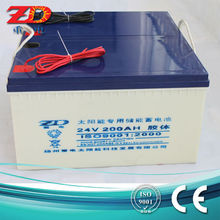 24v 200ah solar street light battery rechargeable lead acid battery AGM battery for UPS, deep cycle