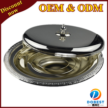 hot sale stainless steel wedding decoration plates/silver plated tray with cover/serving dishes for Middle East T204 S