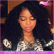top quality wholesale price 100% human hair full lace wig afro curl silk top with baby hair for black women