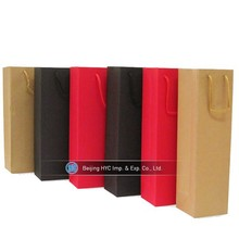 Fashion design gift 1.5l bottle paper wholesale wine bags