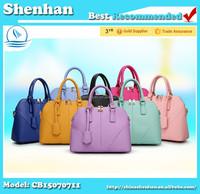 Erope Fahion Stiff PU Leather Top Grade Elegant Woman Hand Bag
